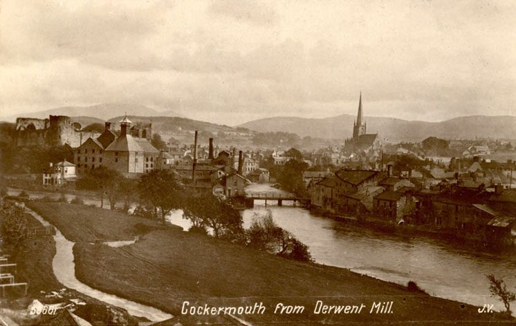 Cockermouth from Derwent Mill
