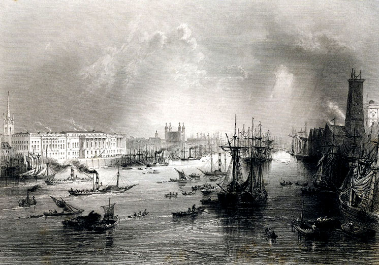 London and Thames circa 1840