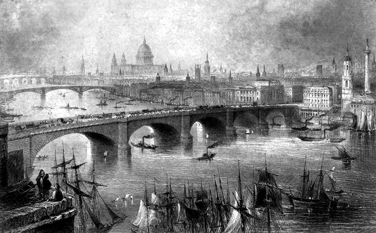 London bridges circa 1840