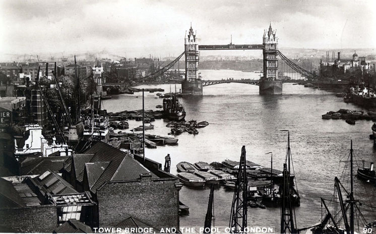 Tower bridge and the Pool of London